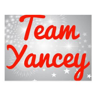 Team Yancey Postcard