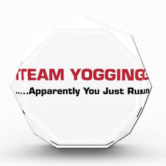 Team Yogging Acrylic Award
