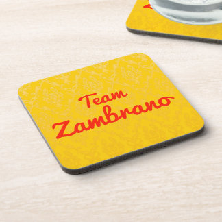 Team Zambrano Drink Coasters