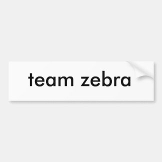 team zebra bumper sticker