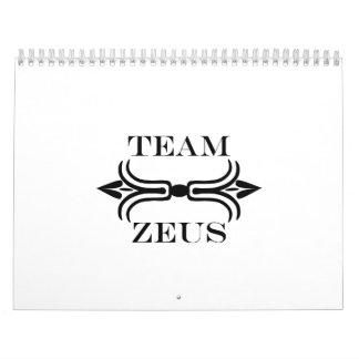 Team Zeus-English Wall Calendar