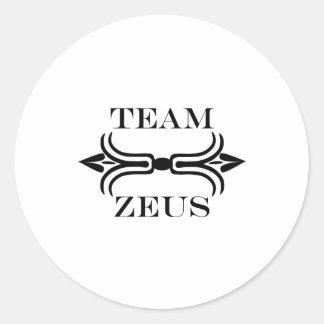 Team Zeus-English Classic Round Sticker