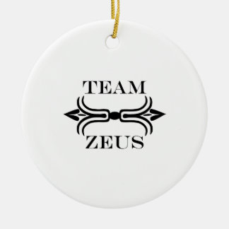 Team Zeus-English Double-Sided Ceramic Round Christmas Ornament