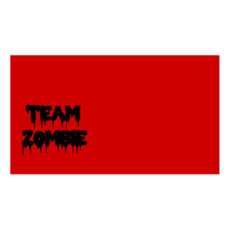 Team Zombie Business Card Templates