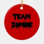 Team Zombie Christmas Ornaments