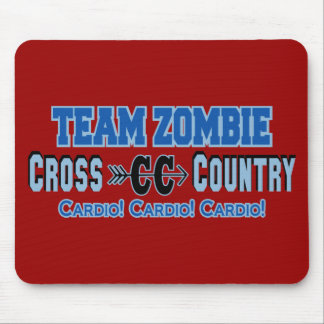 Team Zombie Cross Country Cardio Design Mousepads