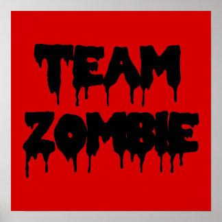 Team Zombie Poster