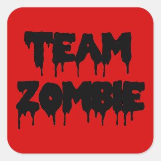 Team Zombie Square Sticker
