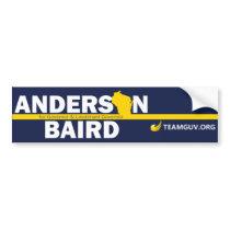 TeamGuv – Anderson / Baird Bumper Sticker