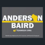 """TeamGuv — Anderson / Baird Lawn Sign<br><div class=""""desc"""">Show your passion for freedom and support for the Team that will bring liberty to Wisconsin in 2018— Phil Anderson and Patrick Baird!</div>"""