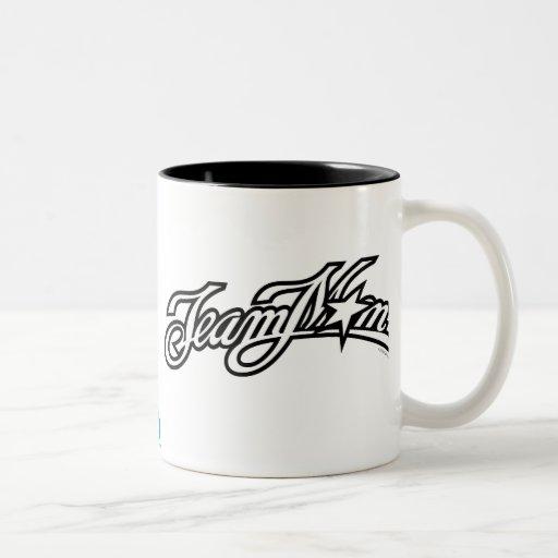 TeamMom Black Logo Two-Tone Coffee Mug