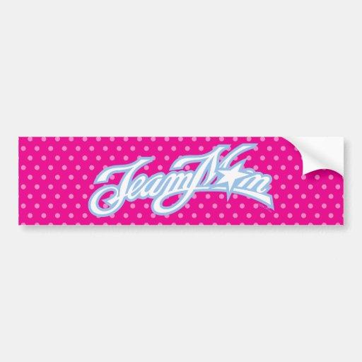 TeamMom Blue Logo with Pink Dots #1 Bumper Sticker