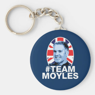 #TEAMMOYLES Round Keychain Blue