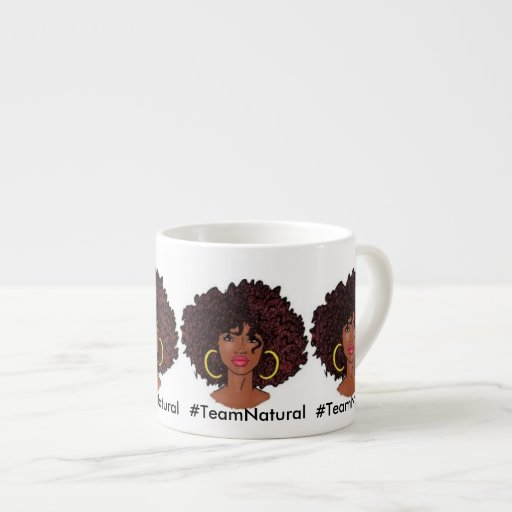 #TeamNatural coffee mugs 6 Oz Ceramic Espresso Cup