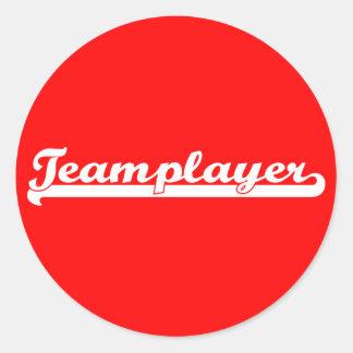 Teamplayer Round Stickers