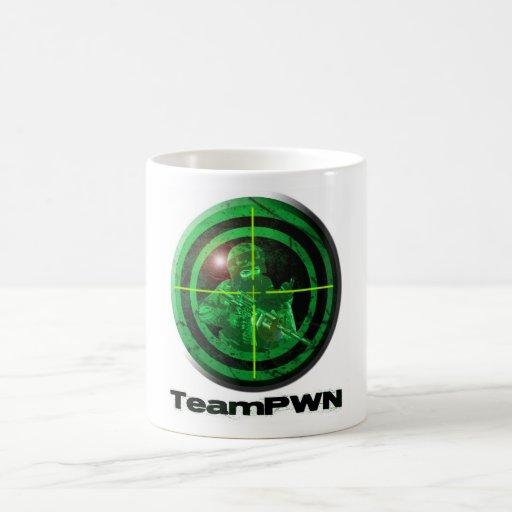 teamPWNgreenmug Taza De Café