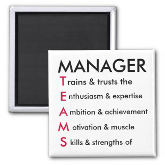 TEAMS manager 2 Inch Square Magnet