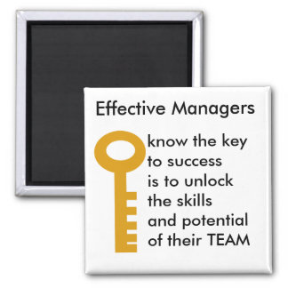 TEAMS manager - key to success 2 Inch Square Magnet