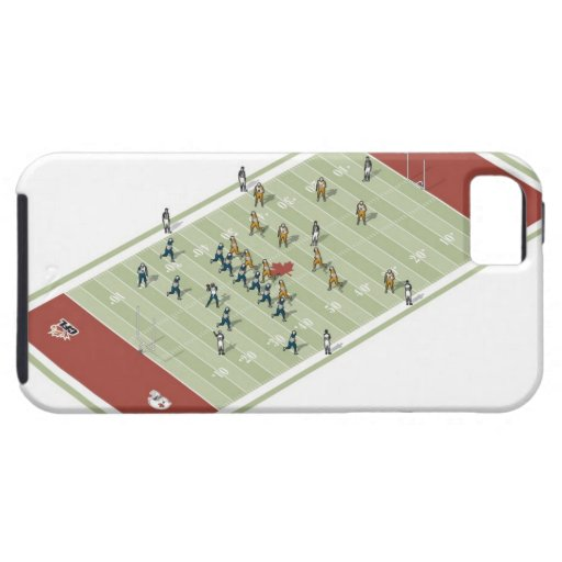 Teams on Canadian football pitch iPhone 5 Case