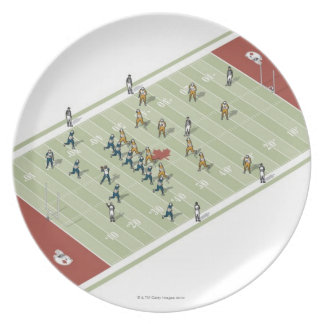 Teams on Canadian football pitch Plate