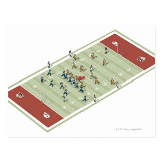 Teams on Canadian football pitch Postcard