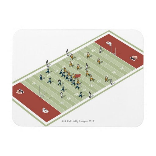 Teams on Canadian football pitch Flexible Magnets
