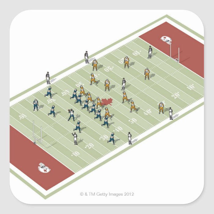 Teams on Canadian football pitch Square Sticker