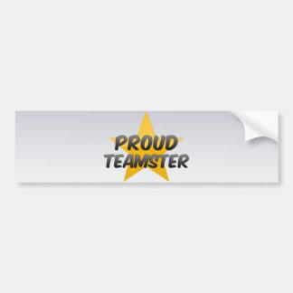 Teamster orgulloso pegatina de parachoque