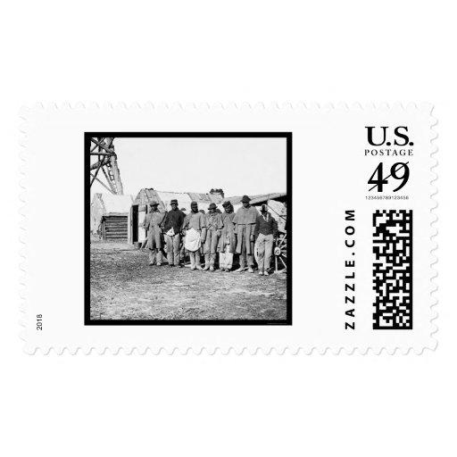 Teamsters afroamericanos 1864 estampilla
