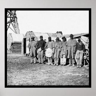 Teamsters afroamericanos 1864 impresiones