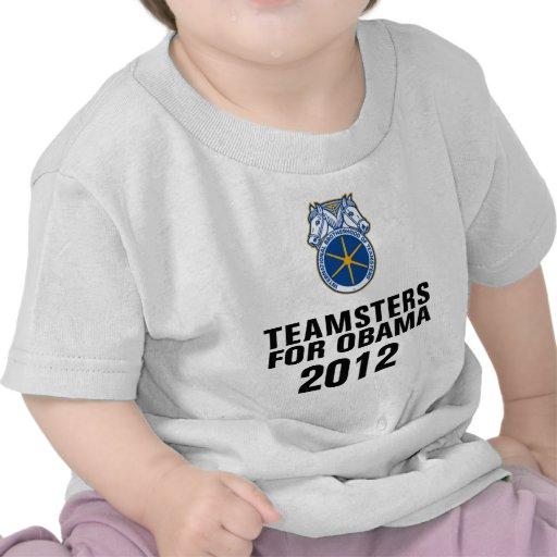 Teamsters para Obama Camiseta