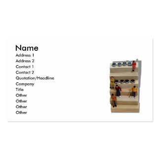 Teamwork041209shadows, Name, Address 1, Address... Double-Sided Standard Business Cards (Pack Of 100)