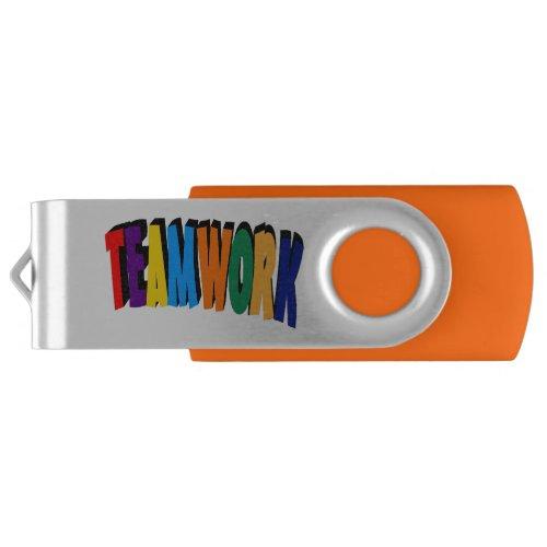 Teamwork Add Your Logo Custom Flash Drive
