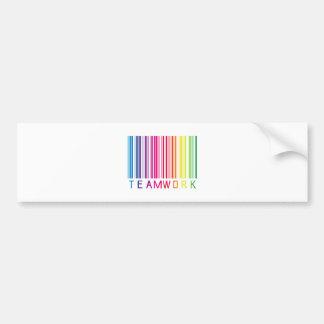 Teamwork Barcode 02 Bumper Sticker