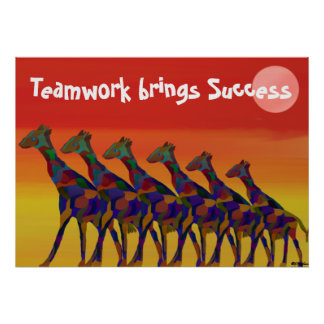 Classroom Teamwork Posters | Zazzle