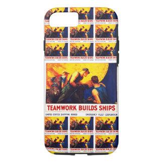 Teamwork Builds Ships iPhone 8/7 Case