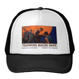 Teamwork Builds Ships Trucker Hat
