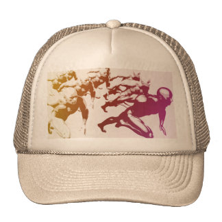 Teamwork Concept and People Running Trucker Hat
