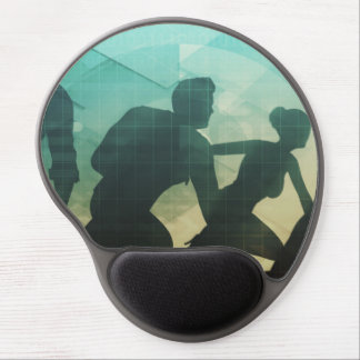 Teamwork Concept with Silhouette of Business Team Gel Mouse Pad