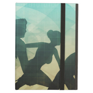 Teamwork Concept with Silhouette of Business Team iPad Air Cover