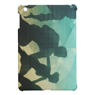 Teamwork Concept with Silhouette of Business Team iPad Mini Covers