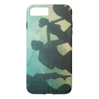 Teamwork Concept with Silhouette of Business Team iPhone 8 Plus/7 Plus Case