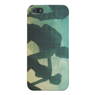 Teamwork Concept with Silhouette of Business Team iPhone SE/5/5s Case