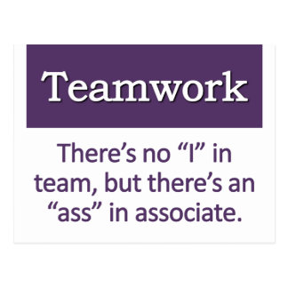 Teamwork Definition Postcard