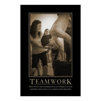 Teamwork Demotivational Print