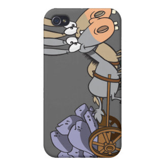 teamwork donkeys mules cartoon iPhone 4/4S cases