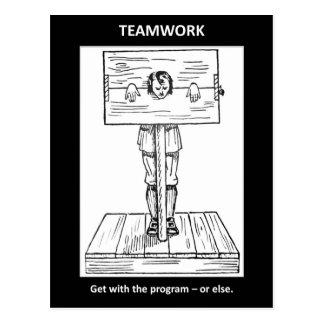teamwork-get-with-the-program-or-else postcard