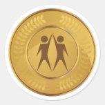 Teamwork Gold Medal Classic Round Sticker