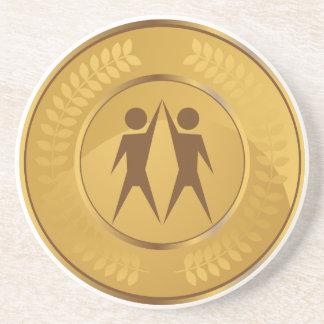 Teamwork Gold Medal Drink Coaster