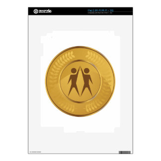 Teamwork Gold Medal Skin For The iPad 2
